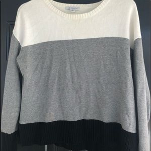 Liz Claiborne color blocked knit sweater XL